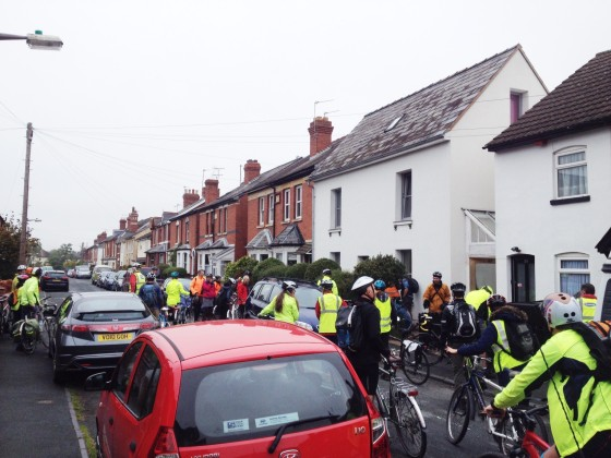 Cycle tour of low energy buildings in Hereford