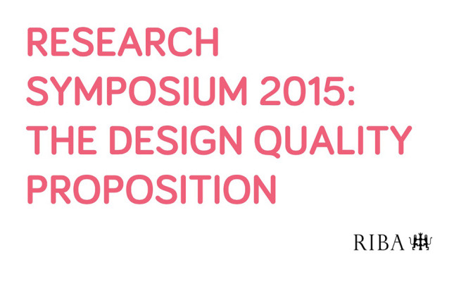 RIBA Research Symposium 2015