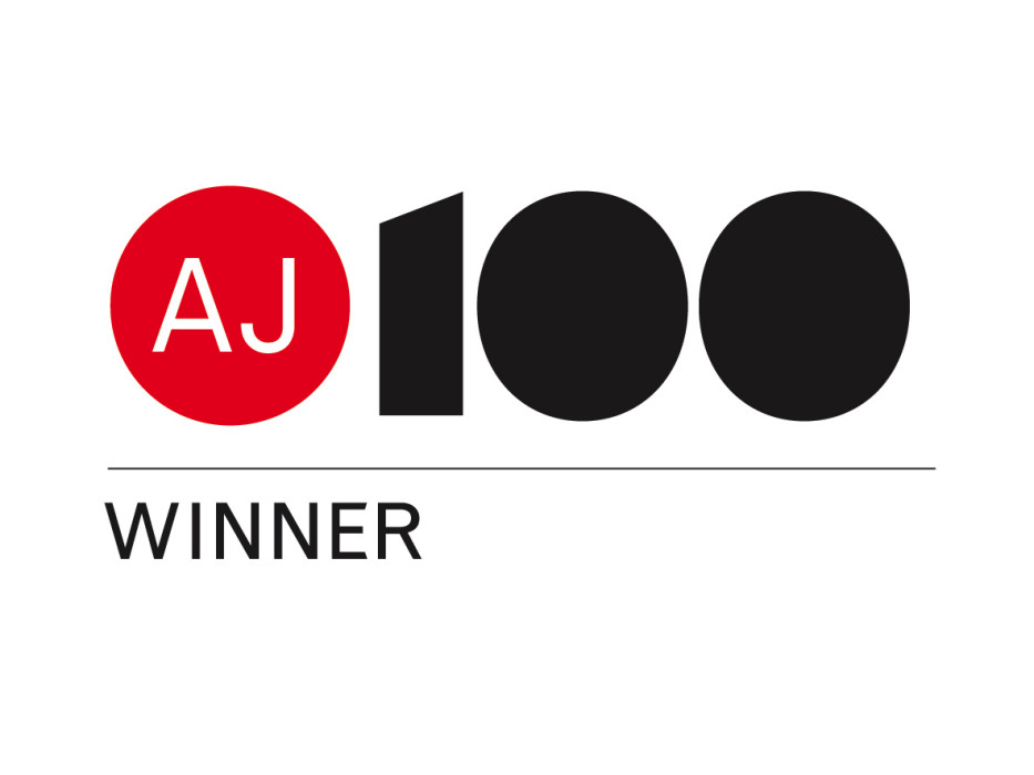 winner of AJ100 graphic