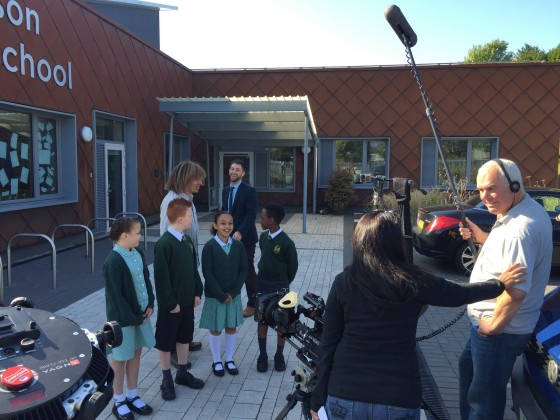 pupils ready to film