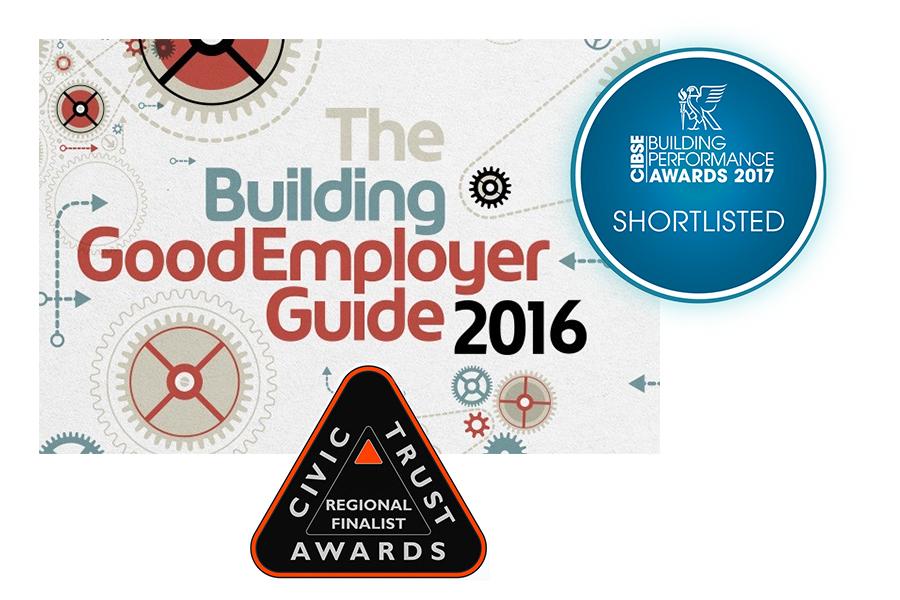 3 x logos of awards short listings
