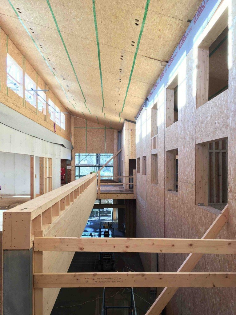 image of the school interior progressing, first floor