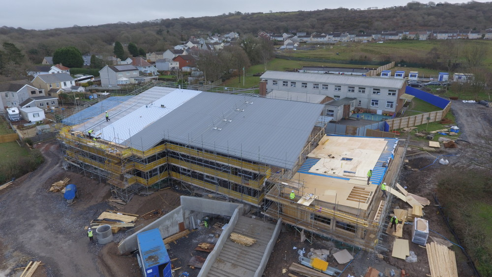 overview of progress on site