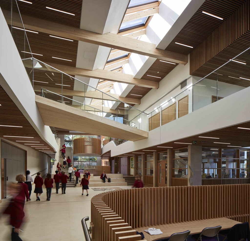 Image of the main circulation space at Highgate Junior School