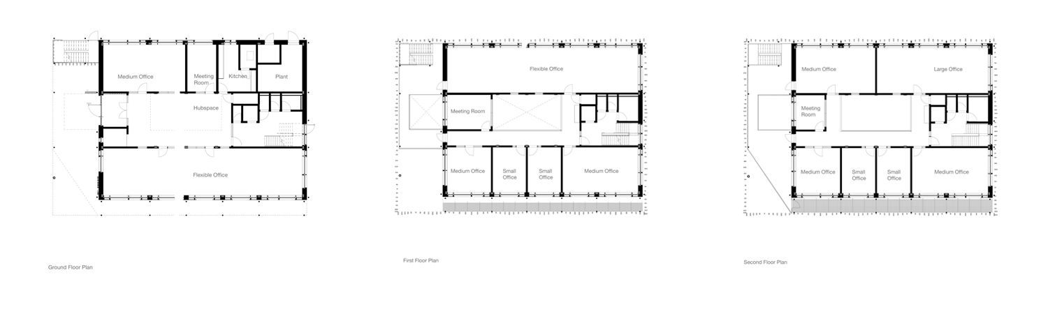 3 x floor plans of new centre