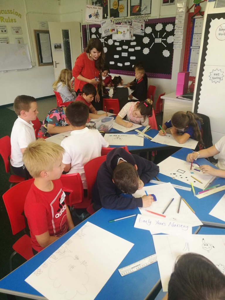 Project Architect Emily Partridge in consultation with local pupils