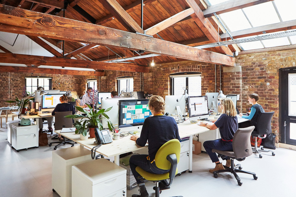 photo of interior of our new london office