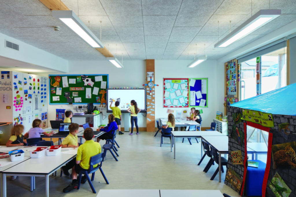 spacious, light and airy classrooms