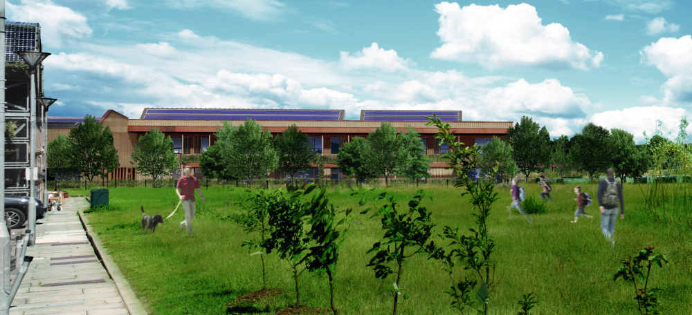Render of Hackbridge Primary School