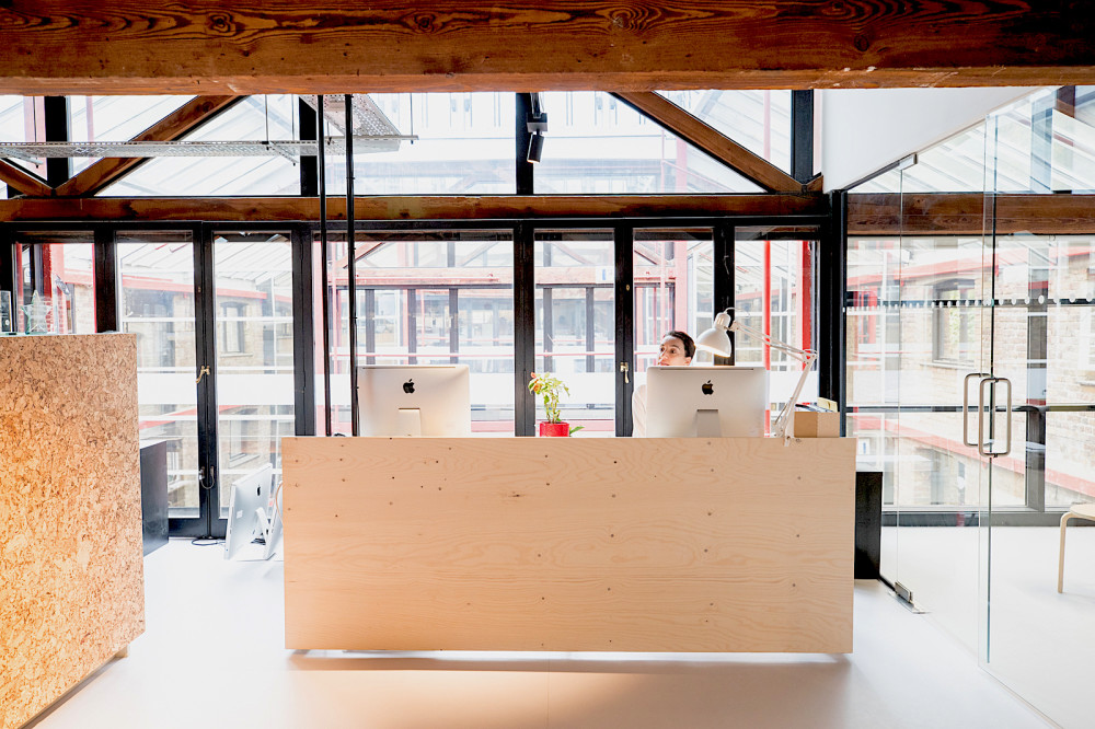 Reception desk at architype
