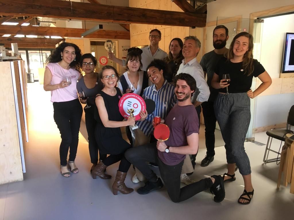 london team enjoying employee ownership day