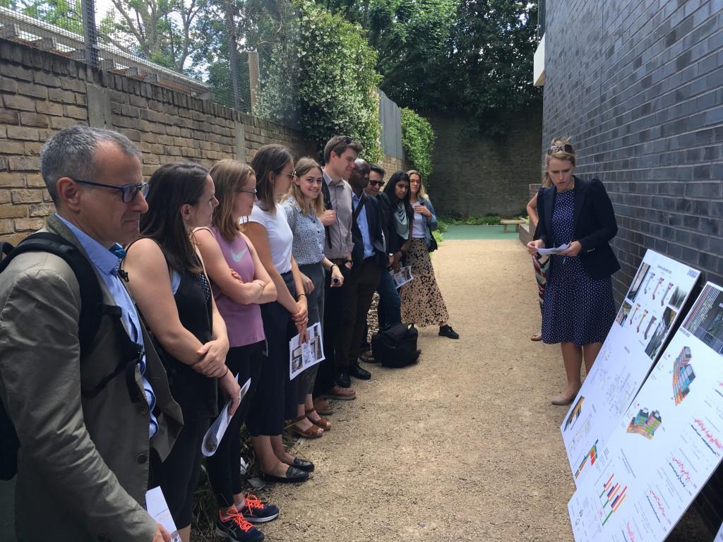 Ann-Maire explains Passivhaus onsite at Agar Grove 1b