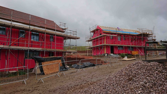 partially complete houses on site at much wedlock