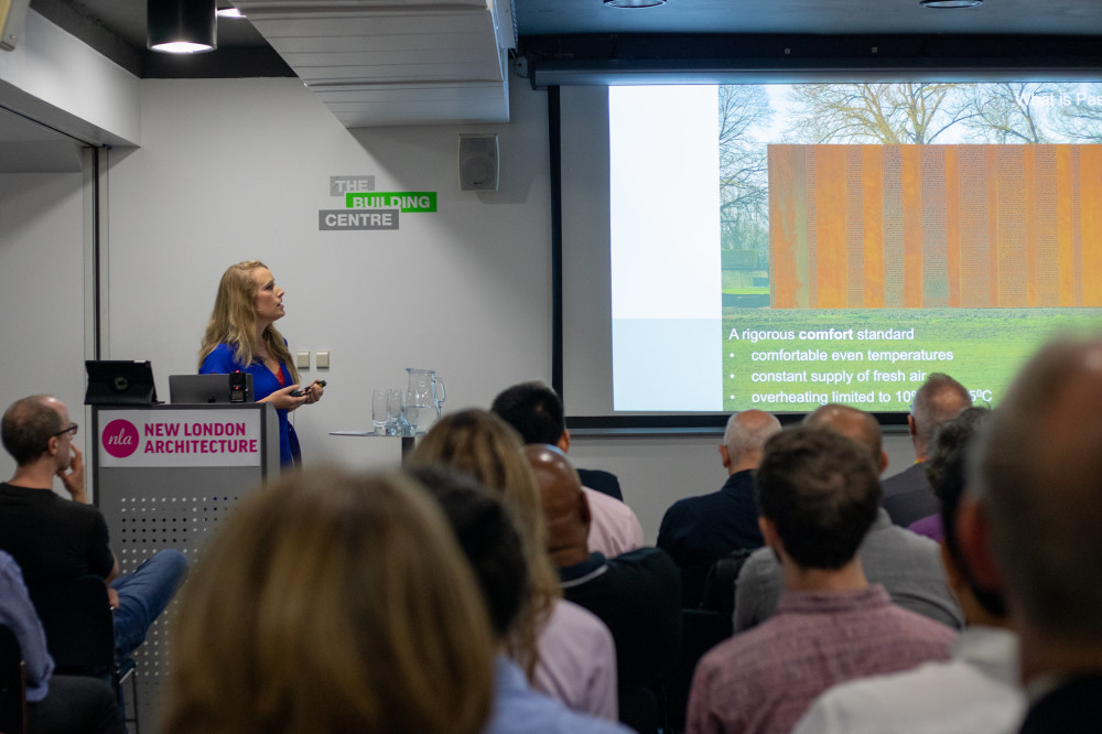 Architype Associate Ann-Maire giving her presentation on Fuel Poverty at NLA