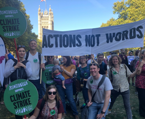 This image demonstrates Architype's involvement in the 2019 climate strike